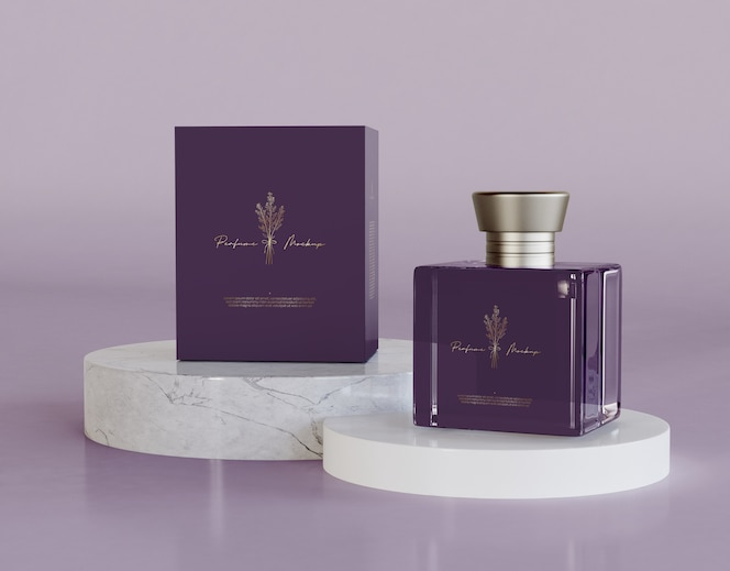 Maqueta de empaque de perfume