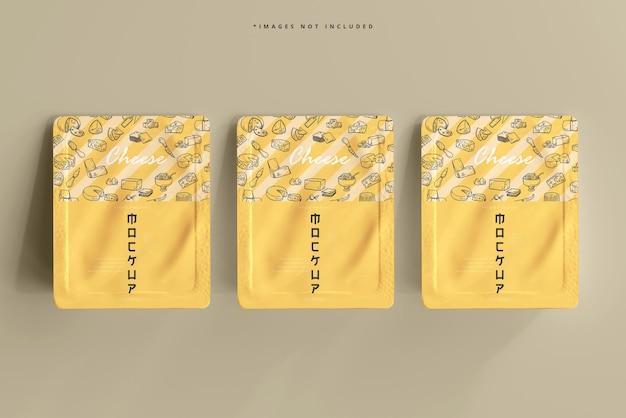 Maqueta de empaque de queso