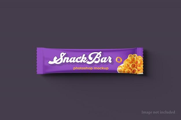 Maqueta de empaque de snack bar