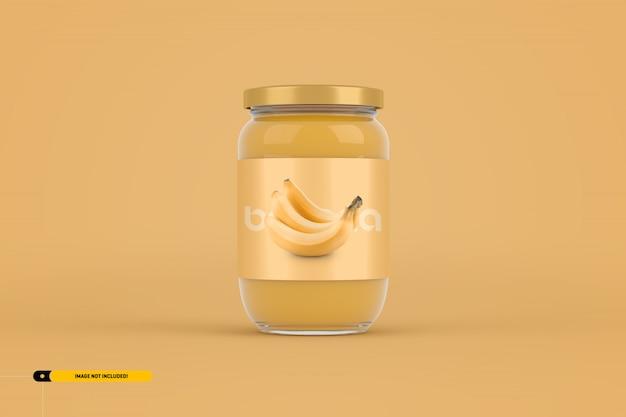 Maqueta de empaque de tarro de mermelada