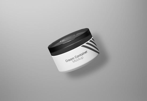 Maqueta de empaquetado de envase de crema de tarro cosmético de lujo