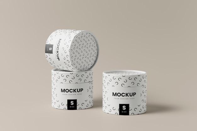 Maqueta de empaquetado de latas de cerca