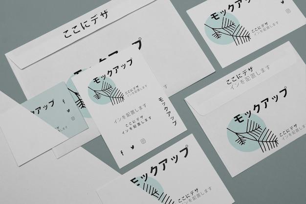 Maqueta para empresa japonesa en documentos