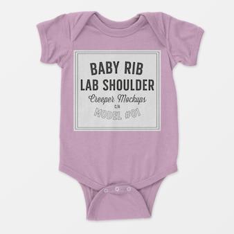 Maqueta de enredadera de hombro de costilla de bebé
