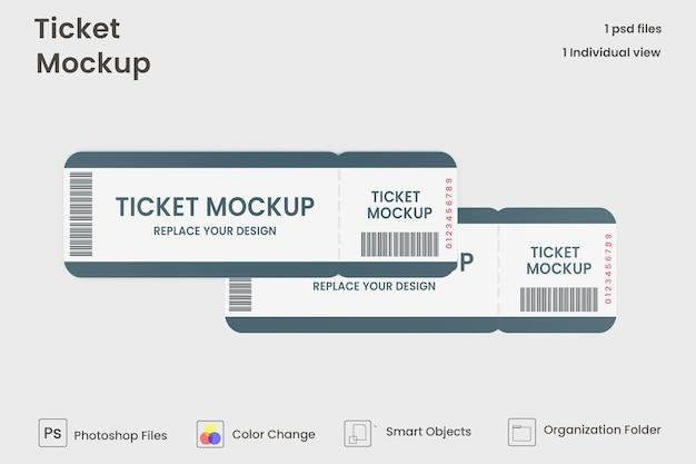 Maqueta de entradas para eventos aislado
