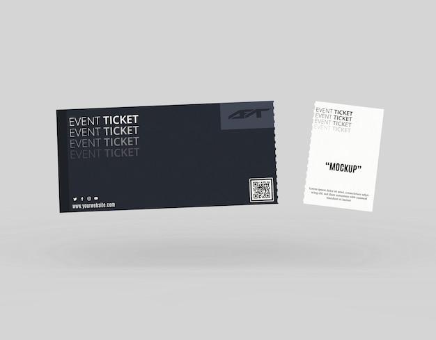 Maqueta de entradas para eventos