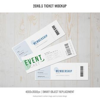 Maqueta de entradas