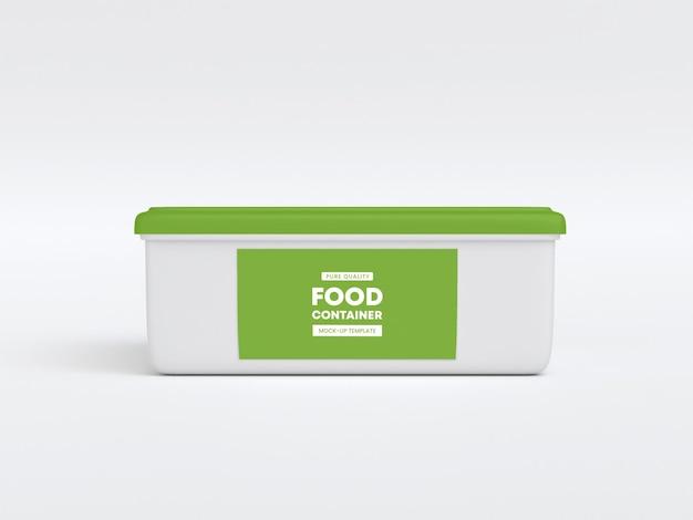 Maqueta de envasado de envases de alimentos
