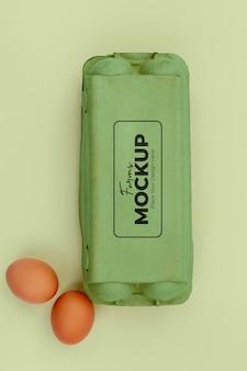Maqueta de envasado de huevos ecológicos
