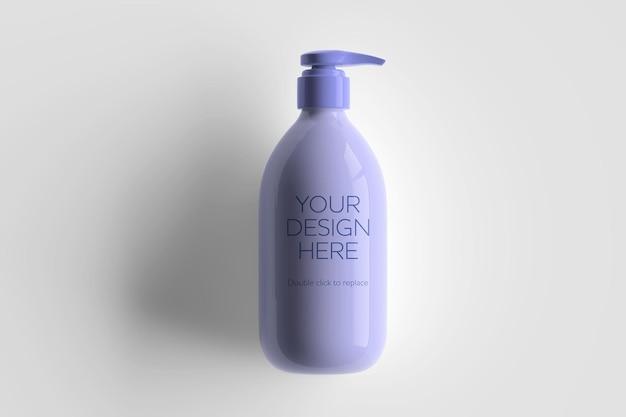Maqueta de envase cosmético blanco