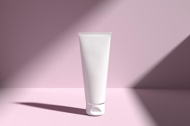 Maqueta de envases cosméticos cuidado de la piel galleta ligera