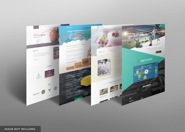 Maqueta de escaparate del sitio web