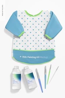 Maqueta de escena de kit de pintura para niños