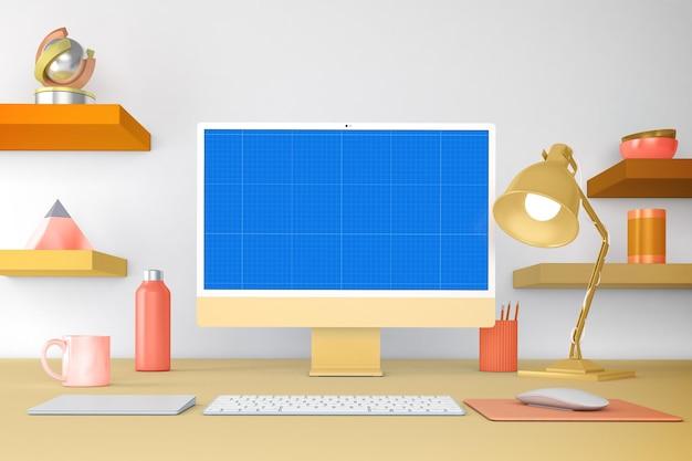 Maqueta de escritorio para pc