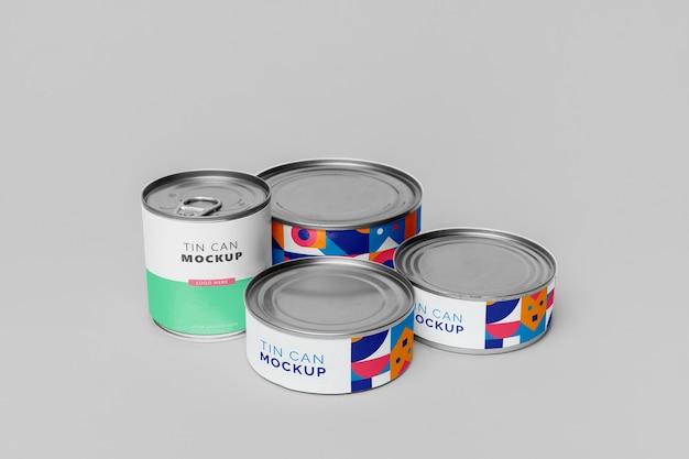 Maqueta de estallido de lata