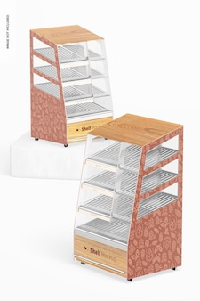 Maqueta de estantes, perspectiva