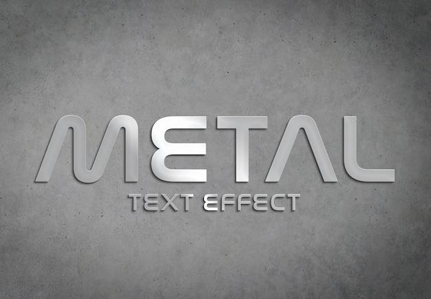 Maqueta de estilo de efecto de texto de metal