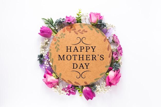 Maqueta de etiqueta con concepto del día de la madre