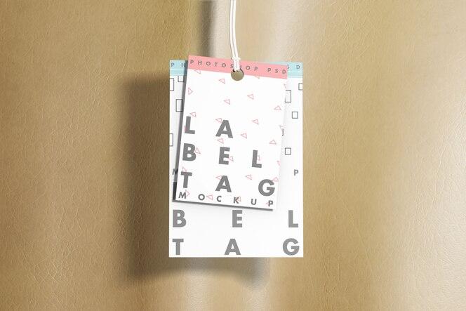 Maqueta de etiqueta de etiqueta de moda con tela