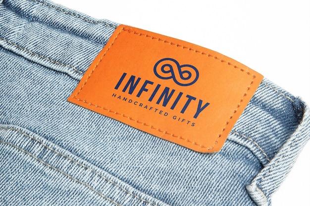 Maqueta de etiqueta de jeans