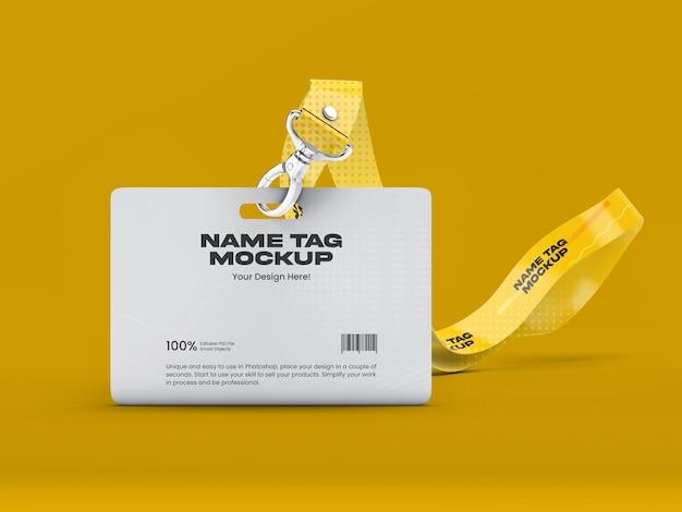 Maqueta de etiqueta de nombre