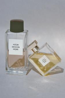 Maqueta de etiqueta de perfume