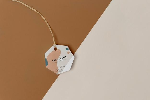 Maqueta de etiqueta de producto de endecha plana