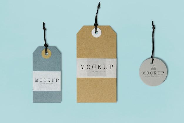Maqueta de etiqueta de ropa de calidad premium