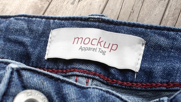 Maqueta de etiqueta de ropa