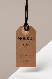 Maqueta de etiqueta de tamaño de ropa
