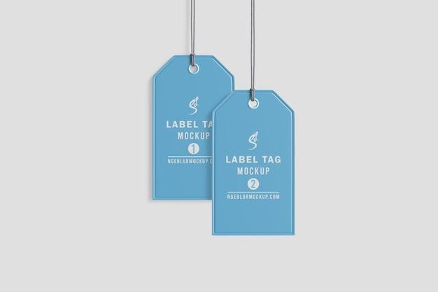 Maqueta de etiqueta de tela