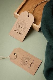 Maqueta de etiquetas para colgar prendas artesanales