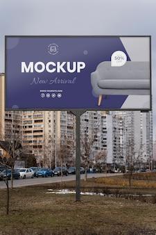 Maqueta de exhibición de cartelera de calle