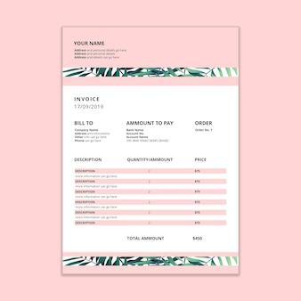 Maqueta de factura