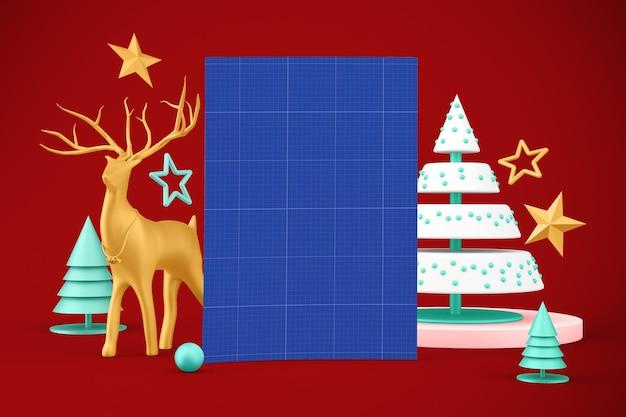 Maqueta de flye de navidad