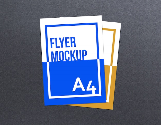 Maqueta de flyer a4