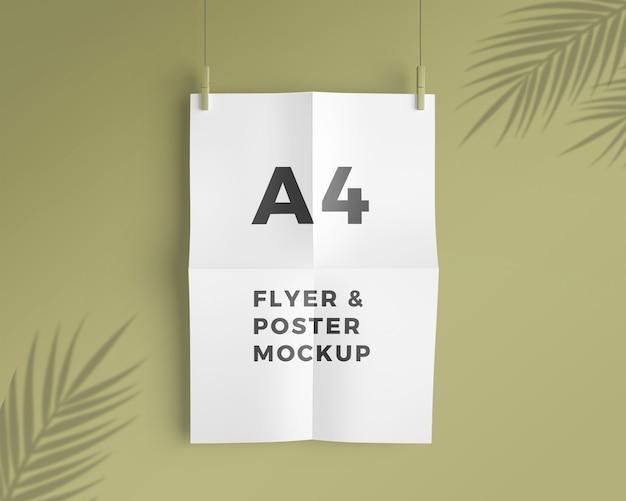 Maqueta de flyer y póster a4