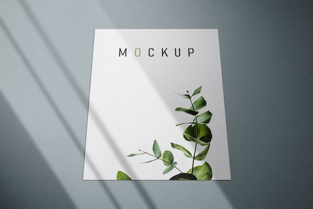 Maqueta de flyer y póster con sombras
