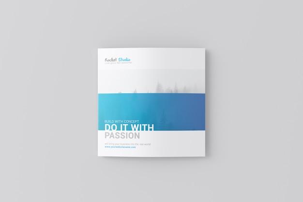Maqueta de folleto de 4 pliegues - cuadrado