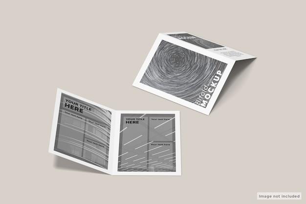 Maqueta de folleto a4 bifold