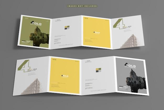 Maqueta de folleto a4 de cuatro pliegues
