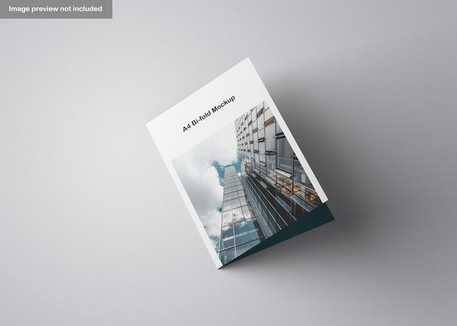 Maqueta de folleto a4 plegable