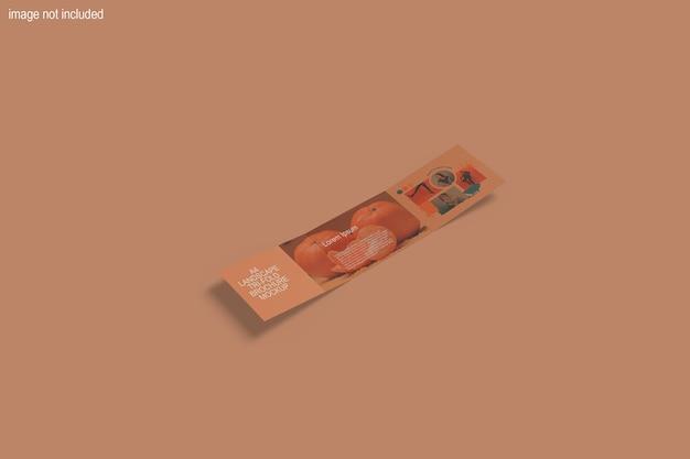 Maqueta de folleto a4 tríptico horizontal