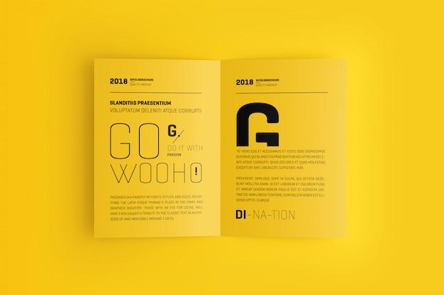 Maqueta de folleto bifold a4 / a5