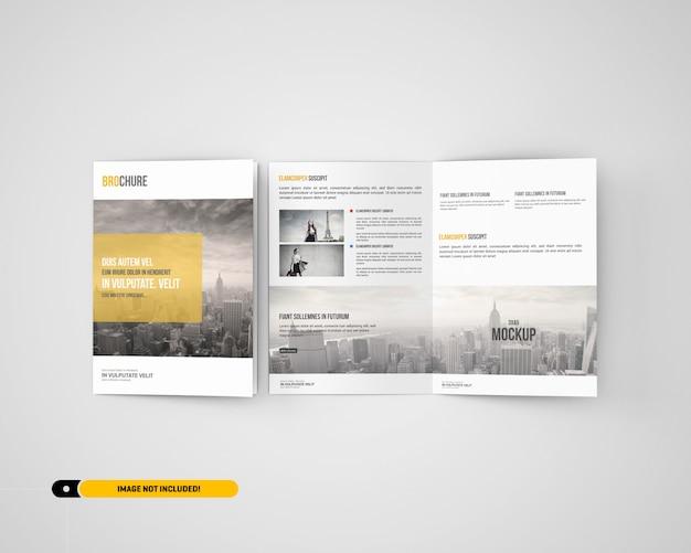 Maqueta de folleto bifold a5 / a5