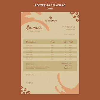 Maqueta de folleto de concepto de café