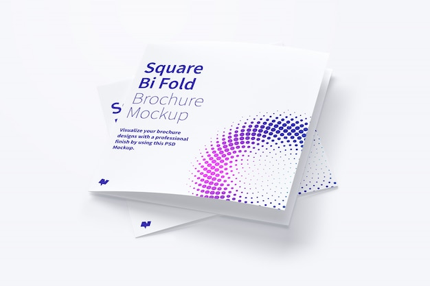 Maqueta de folleto cuadrado doble