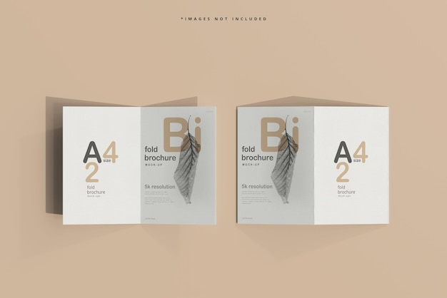 Maqueta de folleto díptico tamaño a4