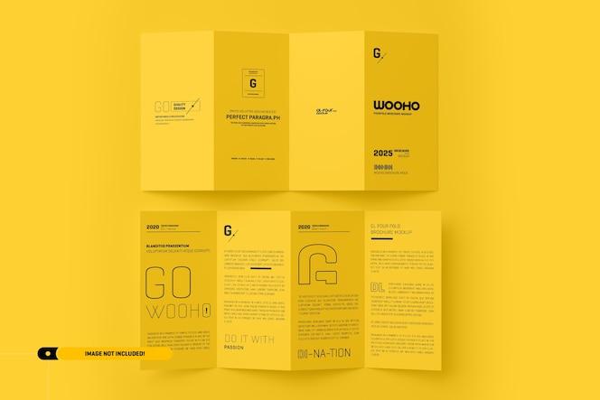 Maqueta de folleto doblado
