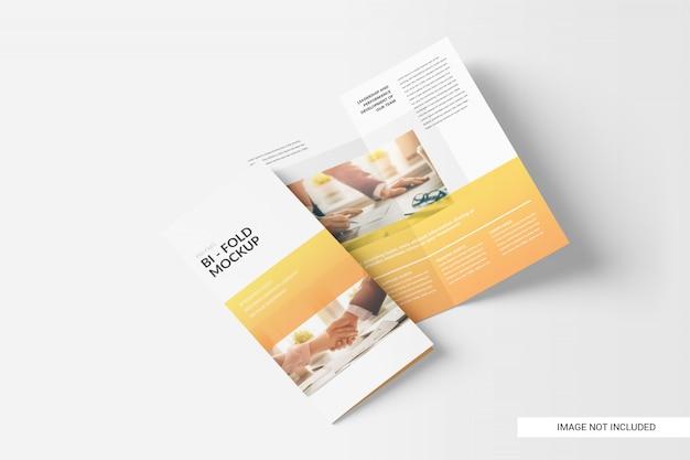 Maqueta de folleto doble